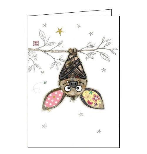 Bug Art Jane Crowther boris bat blank card Nickery Nook