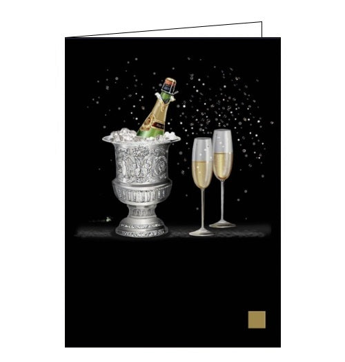 Bug Art Jane Crowther champagne wine alcohol blank card Nickery Nook new