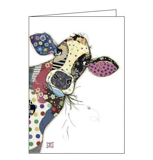 Bug Art Jane Crowther connie the cow blank card Nickery Nook