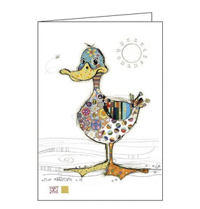 Bug Art Jane Crowther dotty duck birds blank card Nickery Nook