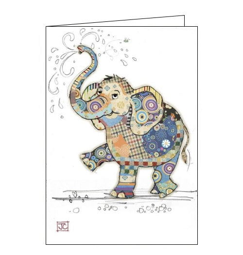 Bug Art Jane Crowther eddie elephant blank card Nickery Nook