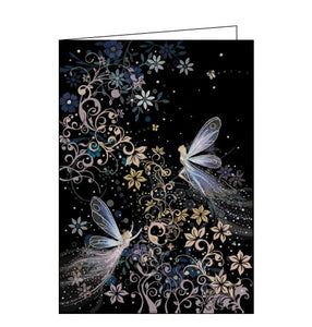 Bug Art Jane Crowther fairies fairy blank card Nickery Nook