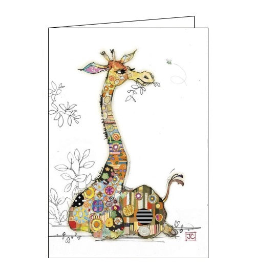 Bug Art Jane Crowther gerry giraffe blank card Nickery Nook