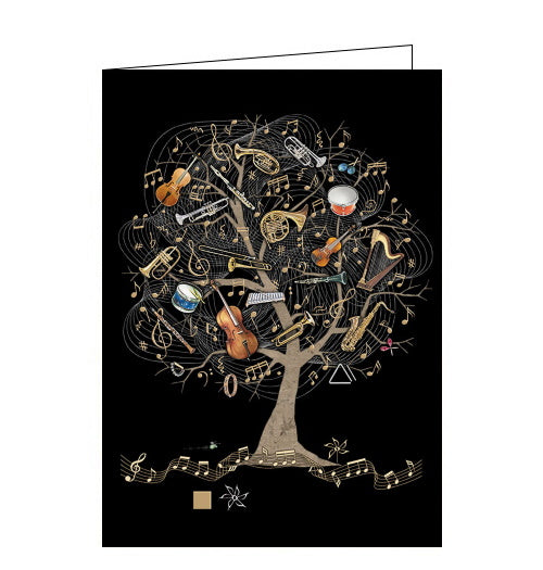 Bug Art Jane Crowther musical instruments blank card