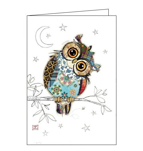 Bug Art Jane Crowther owen owl birds blank card Nickery Nook