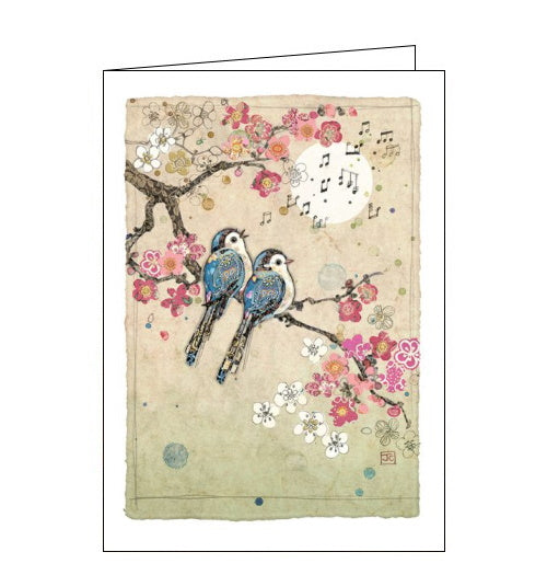Bug Art Jane Crowther song birds blank card
