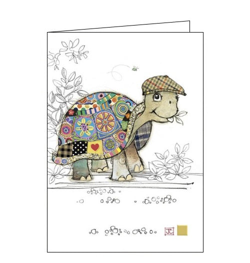 Bug Art Jane Crowther tommy tortoise flat cap blank card Nickery Nook new