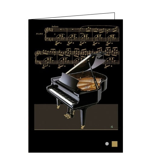 Bug Art jane crowther baby grand piano music blank card Nickery Nook