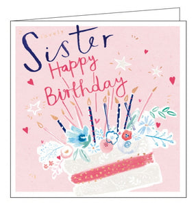 Card Mix cake sister birthday card