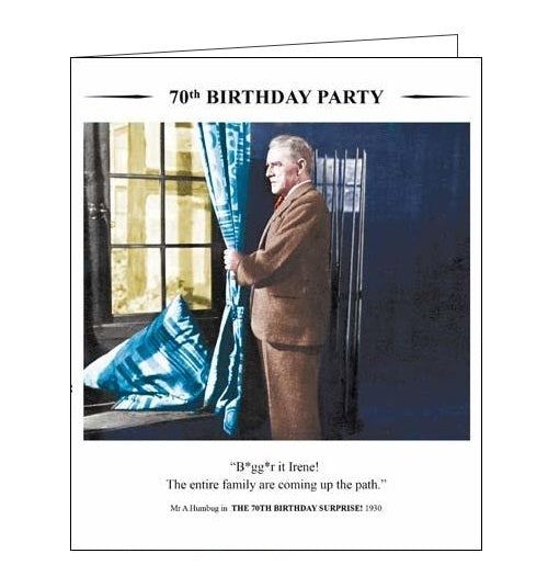 Card Mix Drama Queen Happy Birthday Happy 70th Birthday card Nickery Nook
