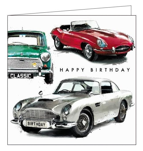Card Mix Just Josh cars mini convertable Happy Birthday card Nickery Nook