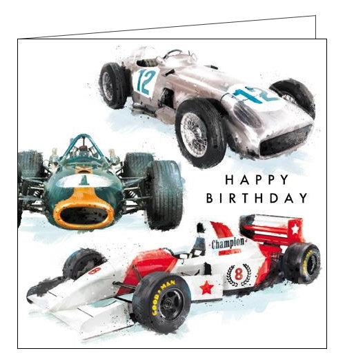 Card Mix Just Josh racing cars Happy Birthday card Nickery Nook