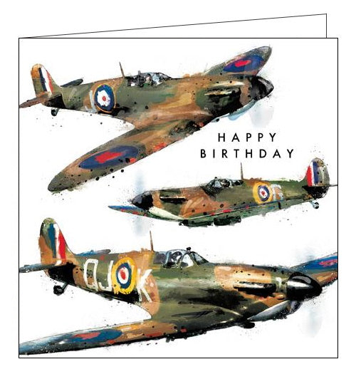 Card Mix Just Josh spitfires planes Happy Birthday card Nickery Nook
