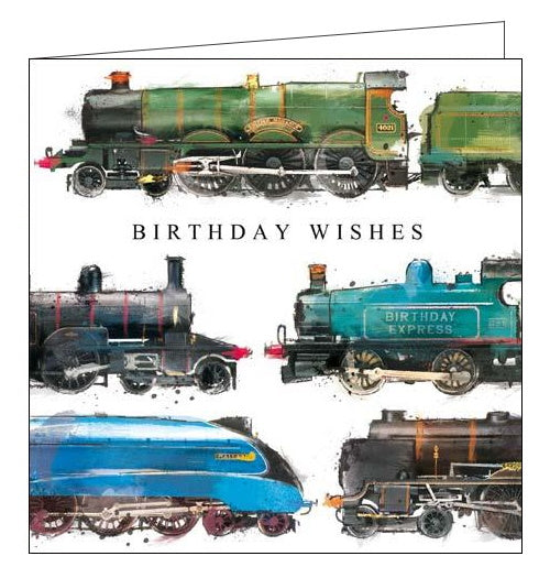 Card Mix Just Josh steam trains mallard flying scotsman trains Birthday card Nickery Nook