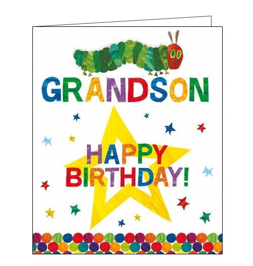 Card Mix The very hungry caterpillar grandson birthday card Nickery Nook
