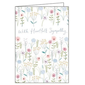 Card Mix With Heartfelt Sympathy thinking of you flowers sympathy card Nickery Nook