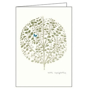 Card Mix With Sympathy Tree sympathy card Nickery Nook