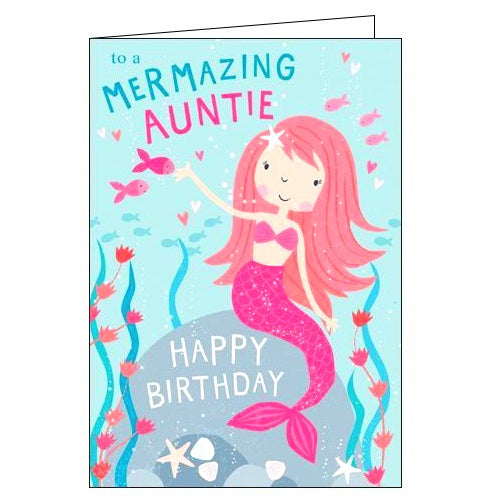 Card Mix mermazing auntie Birthday card Nickery Nook