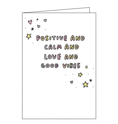 Cardmix positive and calm and love and good vibes blank card veronica dearly