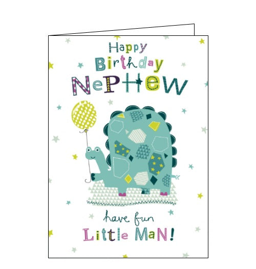 Cherry Orchard dinosaur nephew birthday card Nickery Nook