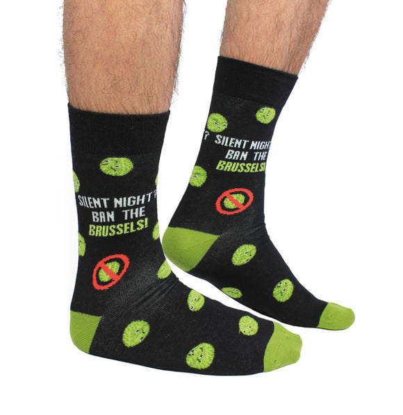Cockney Spaniel ban the brussels funny christmas socks
