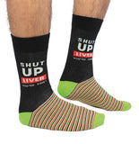 Cockney Spaniel shut up liver you're fine funny mens socks