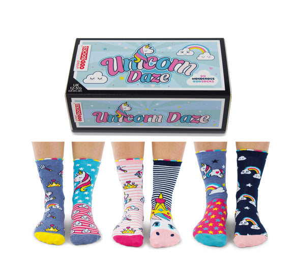 Cockney Spaniel unicorn rainbows unicorns socks for her gift for her socks for her girls socks Nickery Nook