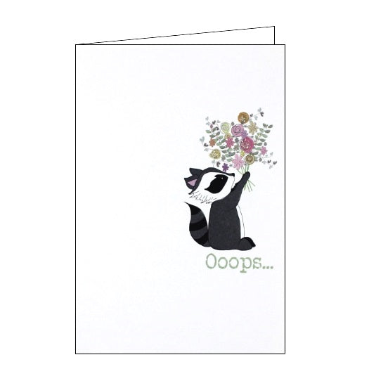 Dandelion Stationery Words of Wisdom i'm sorry oops apology regret card Nickery Nook