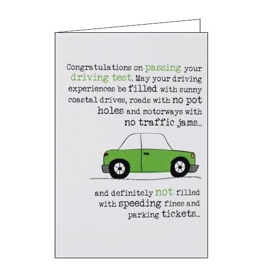 Dandelion Stationery Words of wisdom congratulations on passing your driving test Nickery Nook