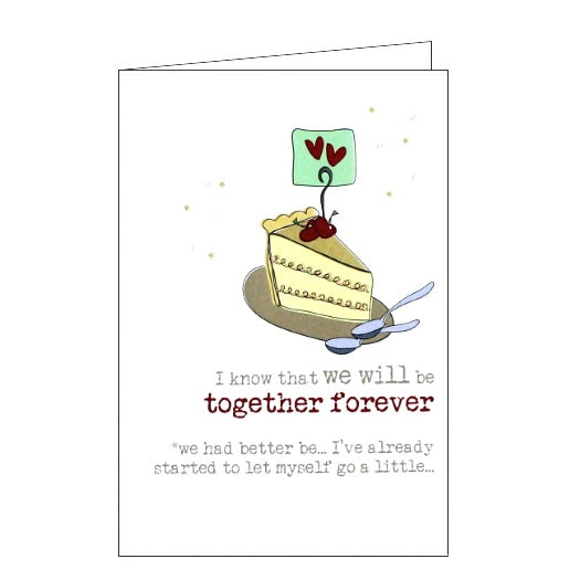 Dandelion Stationery Words of wisdom i know we will be together forever dessert for two love romance anniversary Nickery Nook