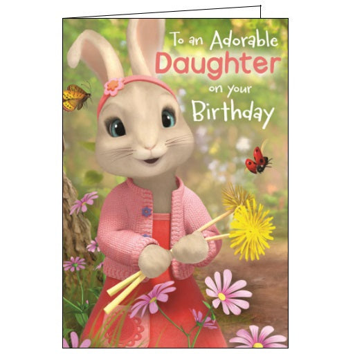 Danilo Peter Rabbit Happy Birthday daughter pop up card Nickery Nook