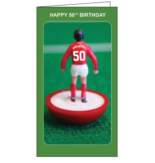 Danlio subbuteo table football 50th birthday card Nickery Nook