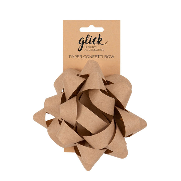 Brown Paper Bow - Gift Wrapping