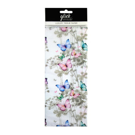 Glick luxury butterfly print tissue paper