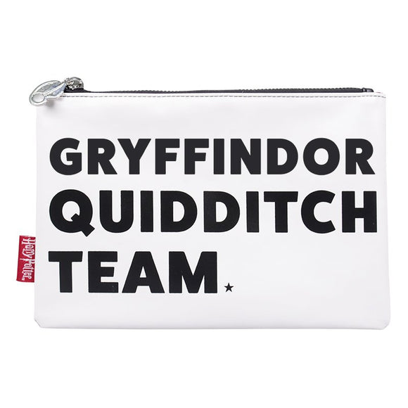 This Harry Potter zip pouch is perfect for any Quidditch fan or player and is ideal for storing anything from stationery to electronics to toiletries. On the front of this pouch black varsity style block lettering reads