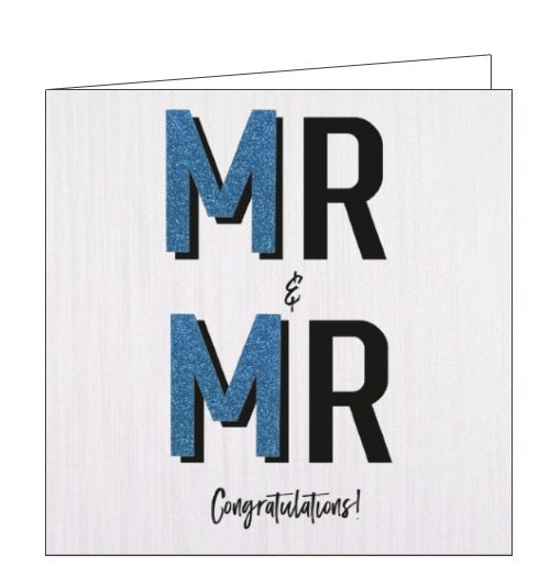 Handcrafted Card Company Mr and Mr wedding congratulations groom and groom card nickery nook