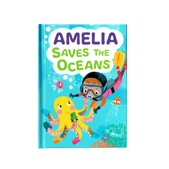 You can lead the charge, Amelia. It's your time to be brave. Be the Guardian of the Seas and save the rolling waves.  These personalised story books are both fun and educational. Written by J. D. Green, with illustrations by Ela Smietanka this children's story book makes you the star with an important story about saving the oceans and understanding the cost of single-use plastics.