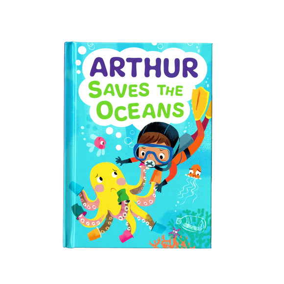 You can lead the charge, Arthur. It's your time to be brave. Be the Guardian of the Seas and save the rolling waves.  These personalised story books are both fun and educational. Written by J. D. Green, with illustrations by Ela Smietanka this children's story book makes you the star with an important story about saving the oceans and understanding the cost of single-use plastics.