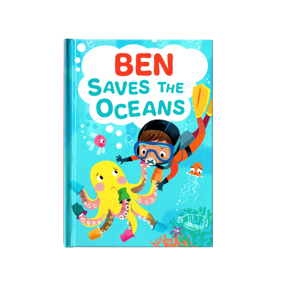 You can lead the charge, Ben. It's your time to be brave. Be the Guardian of the Seas and save the rolling waves.  These personalised story books are both fun and educational. Written by J. D. Green, with illustrations by Ela Smietanka this children's story book makes you the star with an important story about saving the oceans and understanding the cost of single-use plastics.