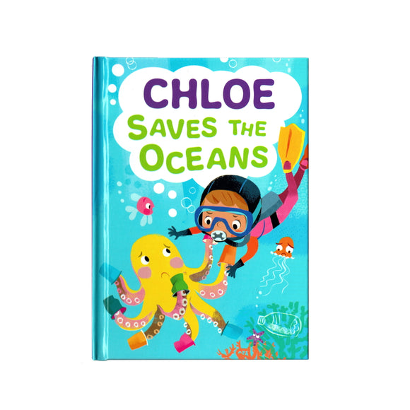 You can lead the charge, Chloe. It's your time to be brave. Be the Guardian of the Seas and save the rolling waves.  These personalised story books are both fun and educational. Written by J. D. Green, with illustrations by Ela Smietanka this children's story book makes you the star with an important story about saving the oceans and understanding the cost of single-use plastics.