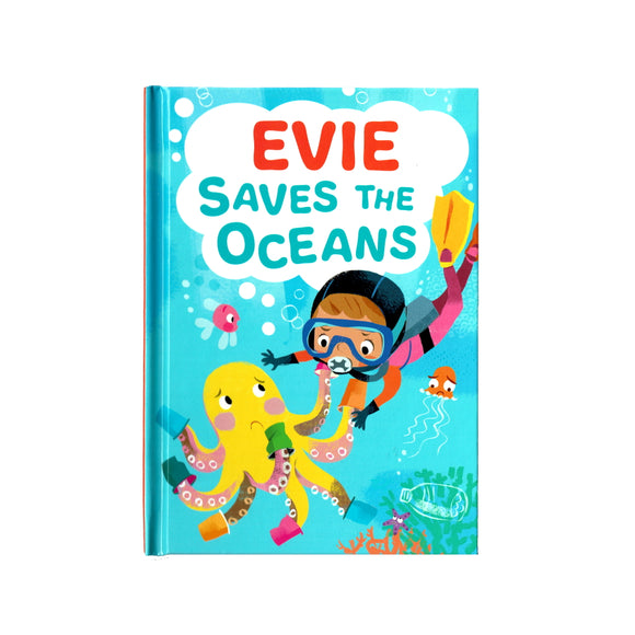 You can lead the charge, Evie. It's your time to be brave. Be the Guardian of the Seas and save the rolling waves.  These personalised story books are both fun and educational. Written by J. D. Green, with illustrations by Ela Smietanka this children's story book makes you the star with an important story about saving the oceans and understanding the cost of single-use plastics.