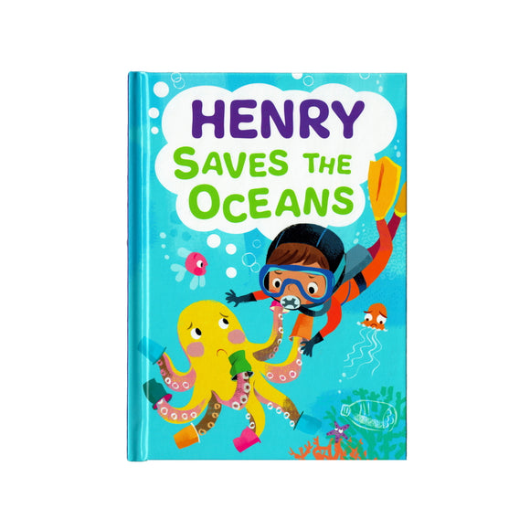 You can lead the charge, Henry. It's your time to be brave. Be the Guardian of the Seas and save the rolling waves.  These personalised story books are both fun and educational. Written by J. D. Green, with illustrations by Ela Smietanka this children's story book makes you the star with an important story about saving the oceans and understanding the cost of single-use plastics.