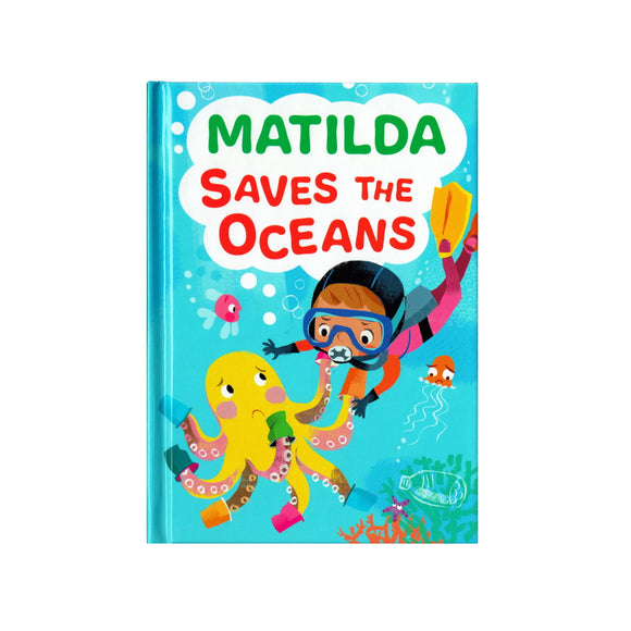 You can lead the charge, Matilda. It's your time to be brave. Be the Guardian of the Seas and save the rolling waves.  These personalised story books are both fun and educational. Written by J. D. Green, with illustrations by Ela Smietanka this children's story book makes you the star with an important story about saving the oceans and understanding the cost of single-use plastics.