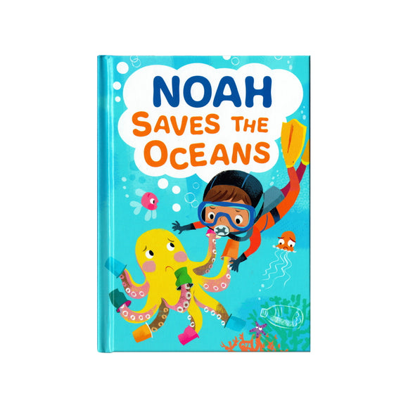 You can lead the charge, Noah. It's your time to be brave. Be the Guardian of the Seas and save the rolling waves.  These personalised story books are both fun and educational. Written by J. D. Green, with illustrations by Ela Smietanka this children's story book makes you the star with an important story about saving the oceans and understanding the cost of single-use plastics.