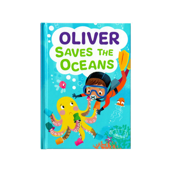 You can lead the charge, Oliver. It's your time to be brave. Be the Guardian of the Seas and save the rolling waves.  These personalised story books are both fun and educational. Written by J. D. Green, with illustrations by Ela Smietanka this children's story book makes you the star with an important story about saving the oceans and understanding the cost of single-use plastics.