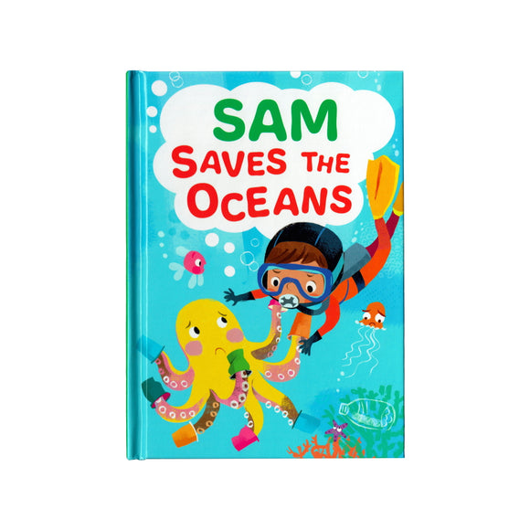 You can lead the charge, Sam. It's your time to be brave. Be the Guardian of the Seas and save the rolling waves.  These personalised story books are both fun and educational. Written by J. D. Green, with illustrations by Ela Smietanka this children's story book makes you the star with an important story about saving the oceans and understanding the cost of single-use plastics.