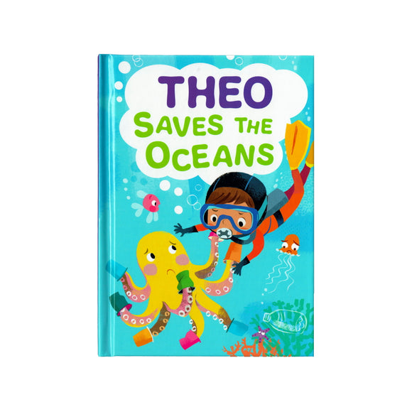 You can lead the charge, Theo. It's your time to be brave. Be the Guardian of the Seas and save the rolling waves.  These personalised story books are both fun and educational. Written by J. D. Green, with illustrations by Ela Smietanka this children's story book makes you the star with an important story about saving the oceans and understanding the cost of single-use plastics.