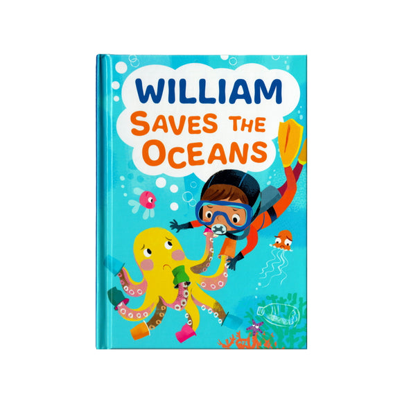 You can lead the charge, William. It's your time to be brave. Be the Guardian of the Seas and save the rolling waves.  These personalised story books are both fun and educational. Written by J. D. Green, with illustrations by Ela Smietanka this children's story book makes you the star with an important story about saving the oceans and understanding the cost of single-use plastics.
