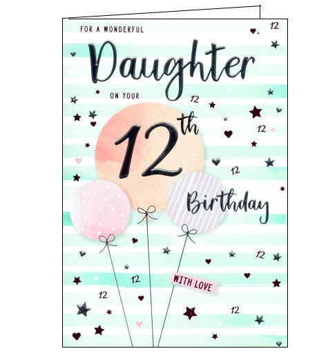 ICG 12th birthday card for daughter