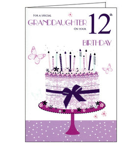 ICG 12th birthday card for granddaughter